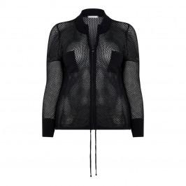 ELENA MIRO MESH CARDIGAN BLACK - Plus Size Collection