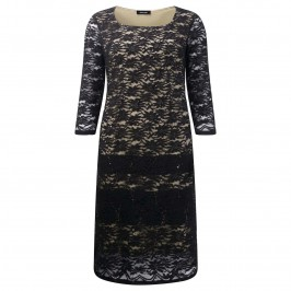ELENA MIRO SEQUINED BLACK LACE DRESS - Plus Size Collection