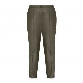 ELENA MIRO FAUX-LEATHER TROUSERS MILITARY GREEN - Plus Size Collection