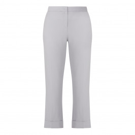 PIAZZA DELLA SCALA TURN UP TROUSER GREY - Plus Size Collection