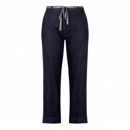PIAZZA DELLA SCALA DENIM TROUSER WITH TURN UP - Plus Size Collection