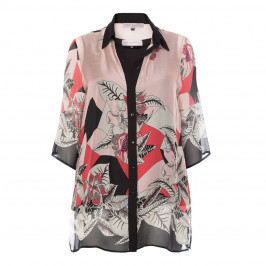 PIERO MORETTI SILK PRINT SHIRT - Plus Size Collection