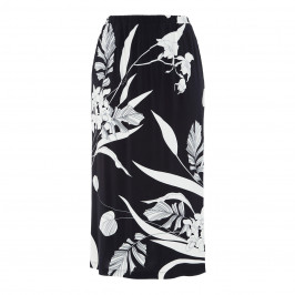 PIERO MORETTI STRETCH JERSEY PRINT SKIRT NAVY - Plus Size Collection