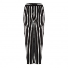 PIERO MORETTI CHIFFON STRIPE PALAZZO TROUSER - Plus Size Collection