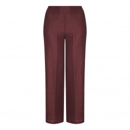 PIERO MORETTI BORDEAUX LINEN TROUSER - Plus Size Collection