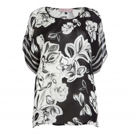 PIERO MORETTI MONOCHROME CHIFFON PRINT TUNIC - Plus Size Collection