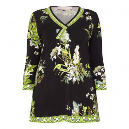 PIERO MORETTI PRINTED TUNIC GREEN - Plus Size Collection