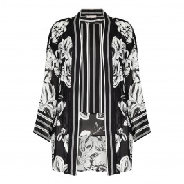 PIERO MORETTI MONOCHROME CHIFFON TWINSET - Plus Size Collection