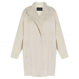 MARINA RINALDI WOOL BLEND COAT PUTTY - Plus Size Collection