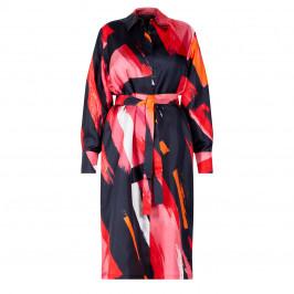 MARINA RINALDI SILK SATIN SHIRT DRESS - Plus Size Collection