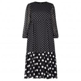 MARINA RINALDI SPOT PRINT CHIFFON DRESS - Plus Size Collection