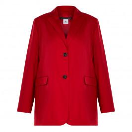 MARINA RINALDI VIRGIN WOOL JACKET RED - Plus Size Collection