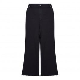 MARINA RINALDI STRETCH DENIM CULOTTE BLACK - Plus Size Collection