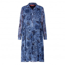 MARINA RINALDI PRINT DRESS NAVY - Plus Size Collection