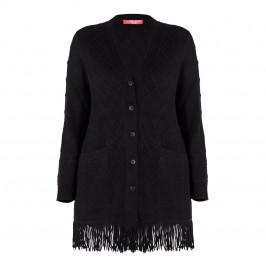 MARINA RINALDI ALPACA BLEND CARDIGAN BLACK - Plus Size Collection
