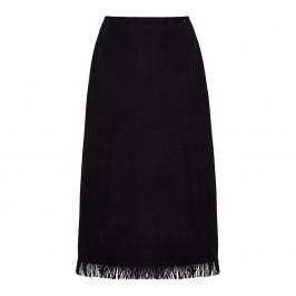 MARINA RINALDI ALPACA BLEND SKIRT BLACK - Plus Size Collection