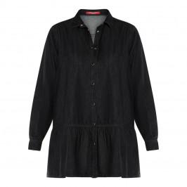 MARINA RINALDI DENIM SHIRT BLACK      - Plus Size Collection