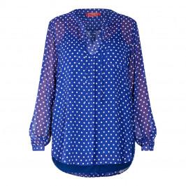 MARINA RINALDI SPOT PRINT TUNIC BLUE - Plus Size Collection