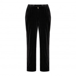 MARINA RINALDI VELVET TROUSER BLACK - Plus Size Collection