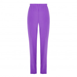 MARINA RINALDI FRONT CREASE PULL-ON TROUSER PURPLE - Plus Size Collection