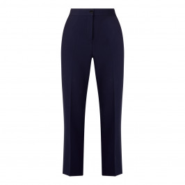 MARINA RINALDI FRONT CREASE TROUSERS NAVY  - Plus Size Collection