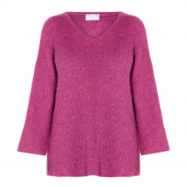 MARINA RINALDI SWEATER WITH LUREX MULBERRY - Plus Size Collection