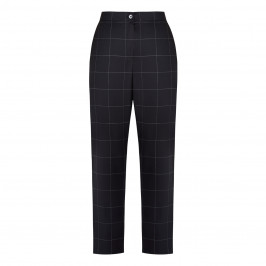 MARINA RINALDI 100% PURE VIRGIN WOOL CHECK TROUSER - Plus Size Collection