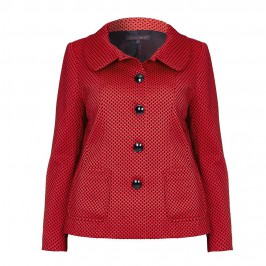 MUREK RED AND BLACK POLKA DOT JACKET - Plus Size Collection