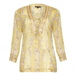 Murek Lemon and gold paisley Kaftan - Plus Size Collection
