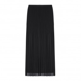 BEIGE pleated black maxi SKIRT - Plus Size Collection