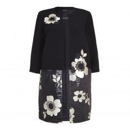 Marina Rinaldi textured floral long coat - Plus Size Collection