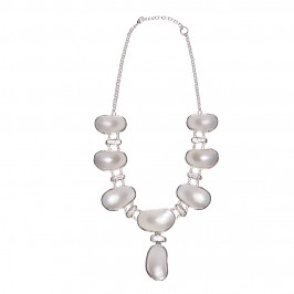 Beige mother-of-pearl NECKLACE - Plus Size Collection