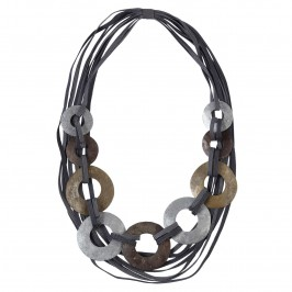 BEIGE MULTI-STRAND NECKLACE - Plus Size Collection