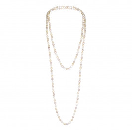 Nur Small Pearl Necklace with Long String - Plus Size Collection