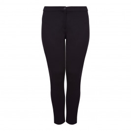 MARINA RINALDI BLACK JERSEY STRETCH TROUSERS  - Plus Size Collection