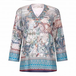 OPEN END cotton paisley folk KAFTAN - Plus Size Collection