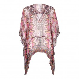 OPEN END gold weave embellished PONCHO - Plus Size Collection