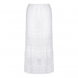 OPEN END white broderie cotton maxi SKIRT - Plus Size Collection