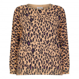 OPEN END ANIMAL PRINT LUREX INTARSIA SWEATER - Plus Size Collection