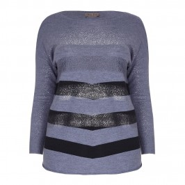 OPEN END chevron stripe SWEATER - Plus Size Collection