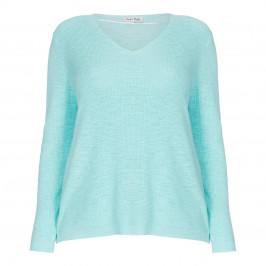 OPEN END SWEATER LIGHT BLUE - Plus Size Collection