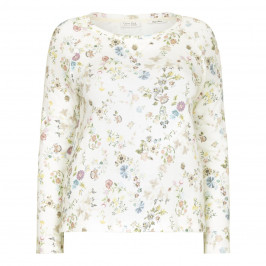 OPEN END floral print SWEATER - Plus Size Collection