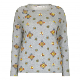 OPEN END floral embellished SWEATER - Plus Size Collection
