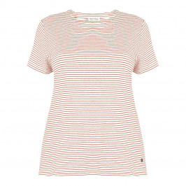 OPEN END red stripe T SHIRT - Plus Size Collection