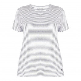 OPEN END navy stripe T SHIRT - Plus Size Collection