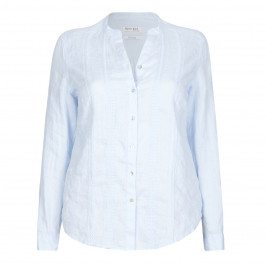 OPEN END EMBROIDERED LINEN SHIRT - Plus Size Collection