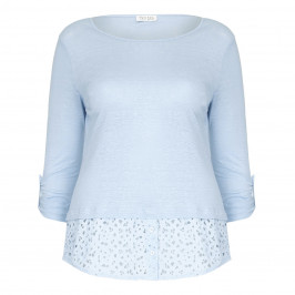 OPEN END TOP with broderie anglaise hem - Plus Size Collection