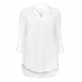 OPEN END white linen Tunic - Plus Size Collection