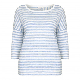 OPEN END blue striped linen Tunic - Plus Size Collection