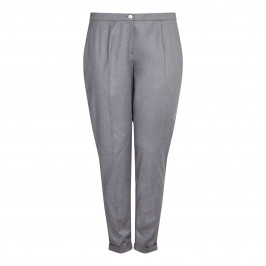 ELENA MIRO charcoal turnup TROUSERS - Plus Size Collection